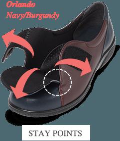 Orlando Navy/Burgundy